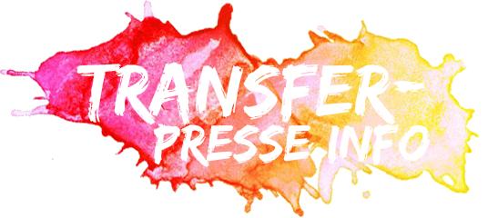bunter Farbklecks mit dem Logo zum Seitentitel Trensferpresse.info